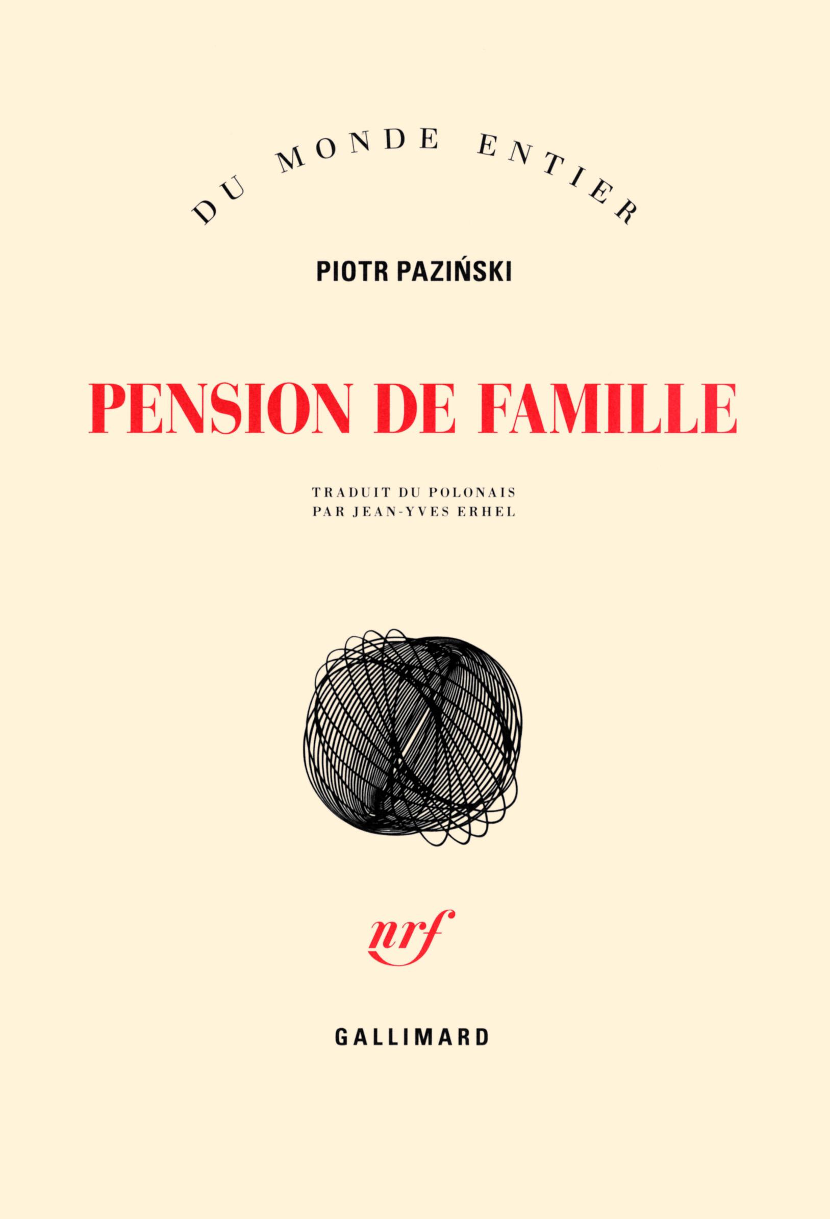 """Résultat de recherche d'images pour """"Piotr Paziński  (Pension de famille, Gallimard,2016)"""""""
