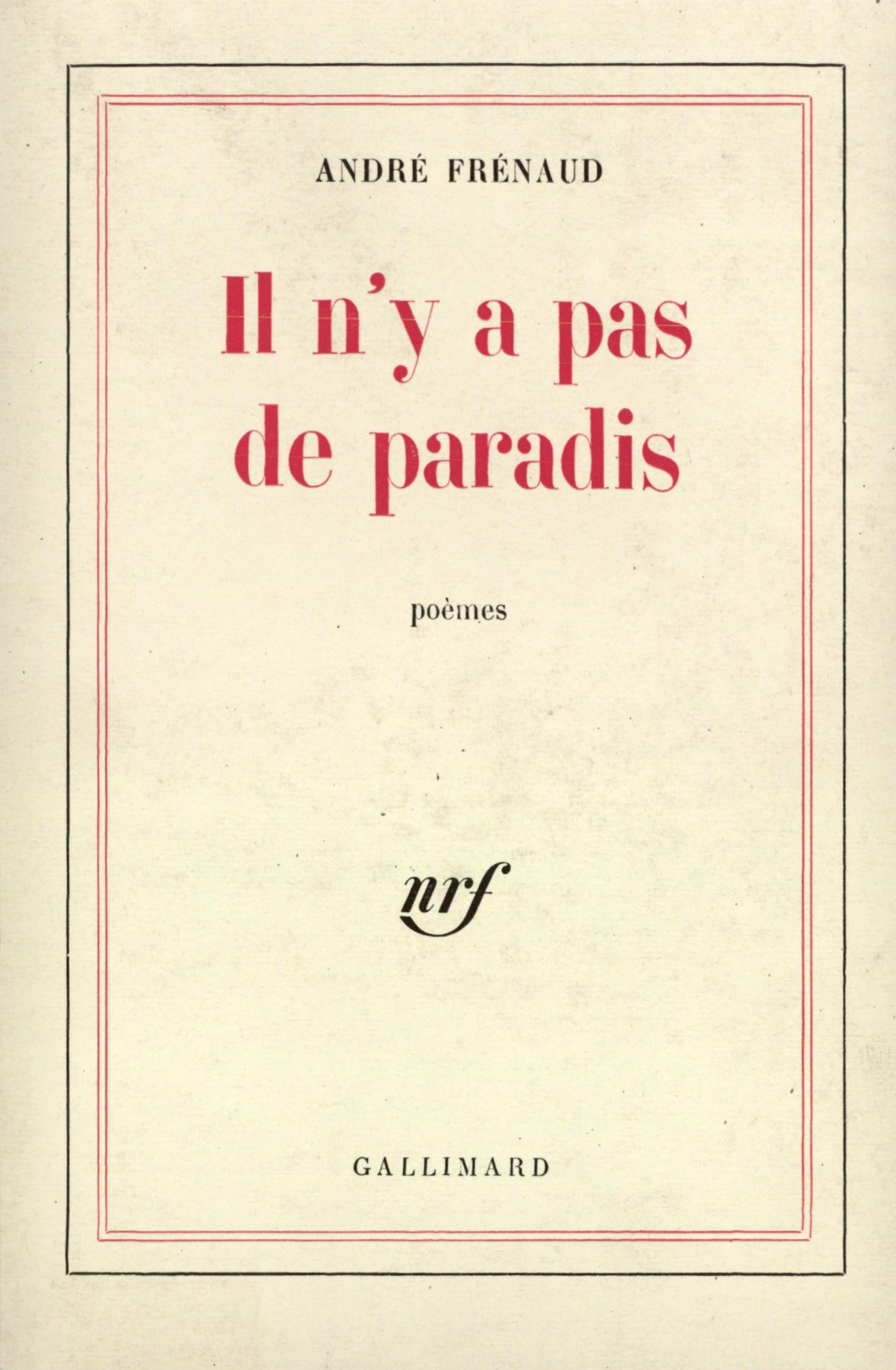 Il Ny A Pas De Paradis Blanche Gallimard Site Gallimard