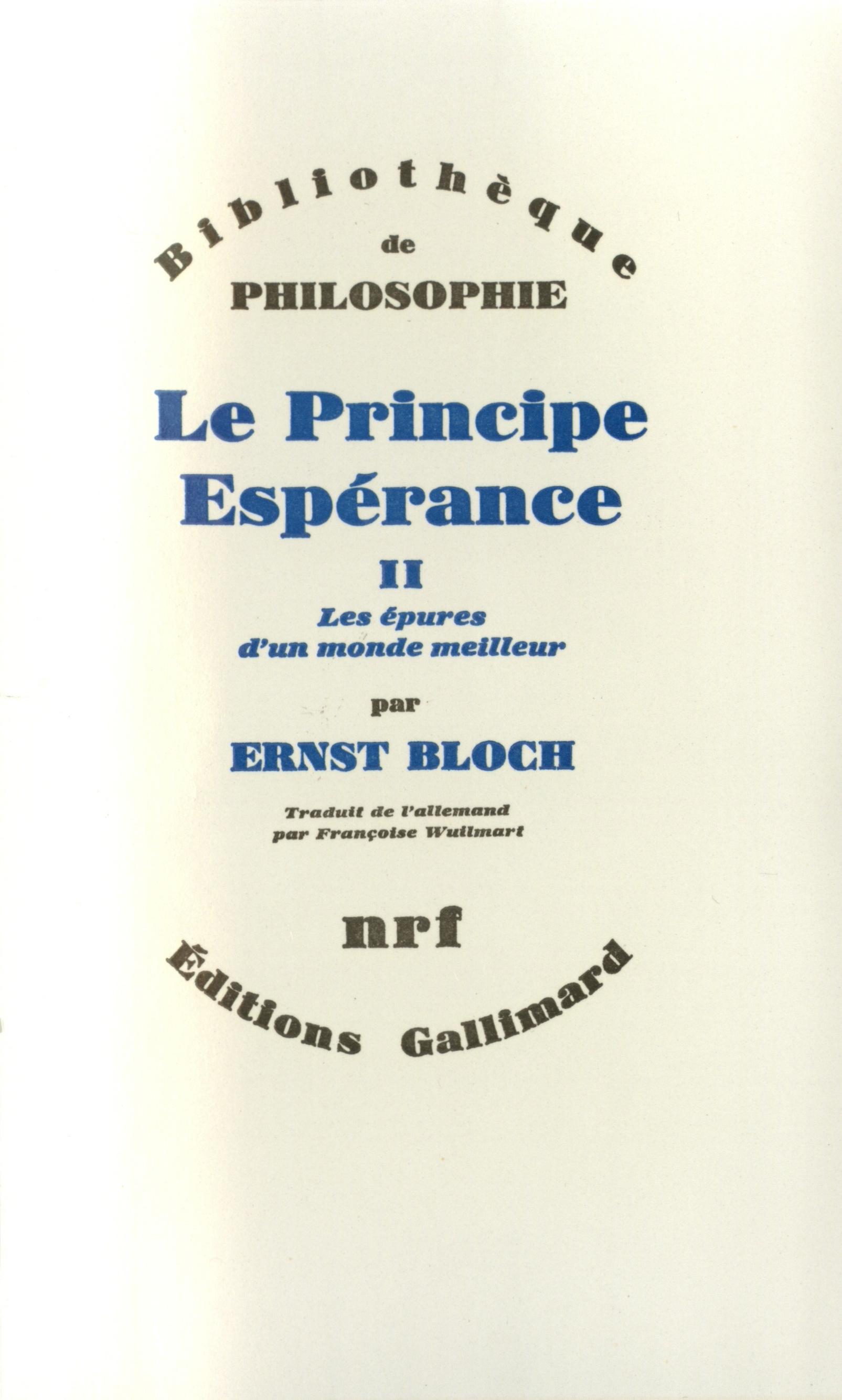 """Résultat de recherche d'images pour """"bloch principe espérance II"""""""