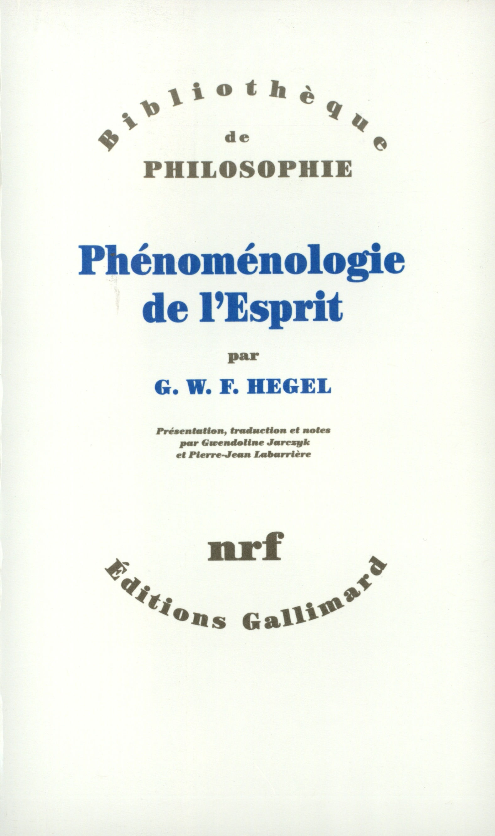 Ph/énom/énologie de lesprit