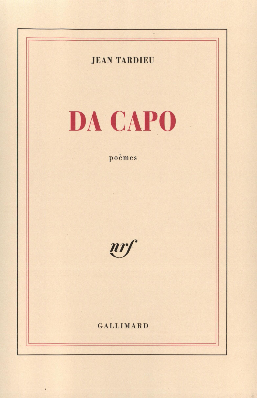 Da Capo Blanche Gallimard Site Gallimard