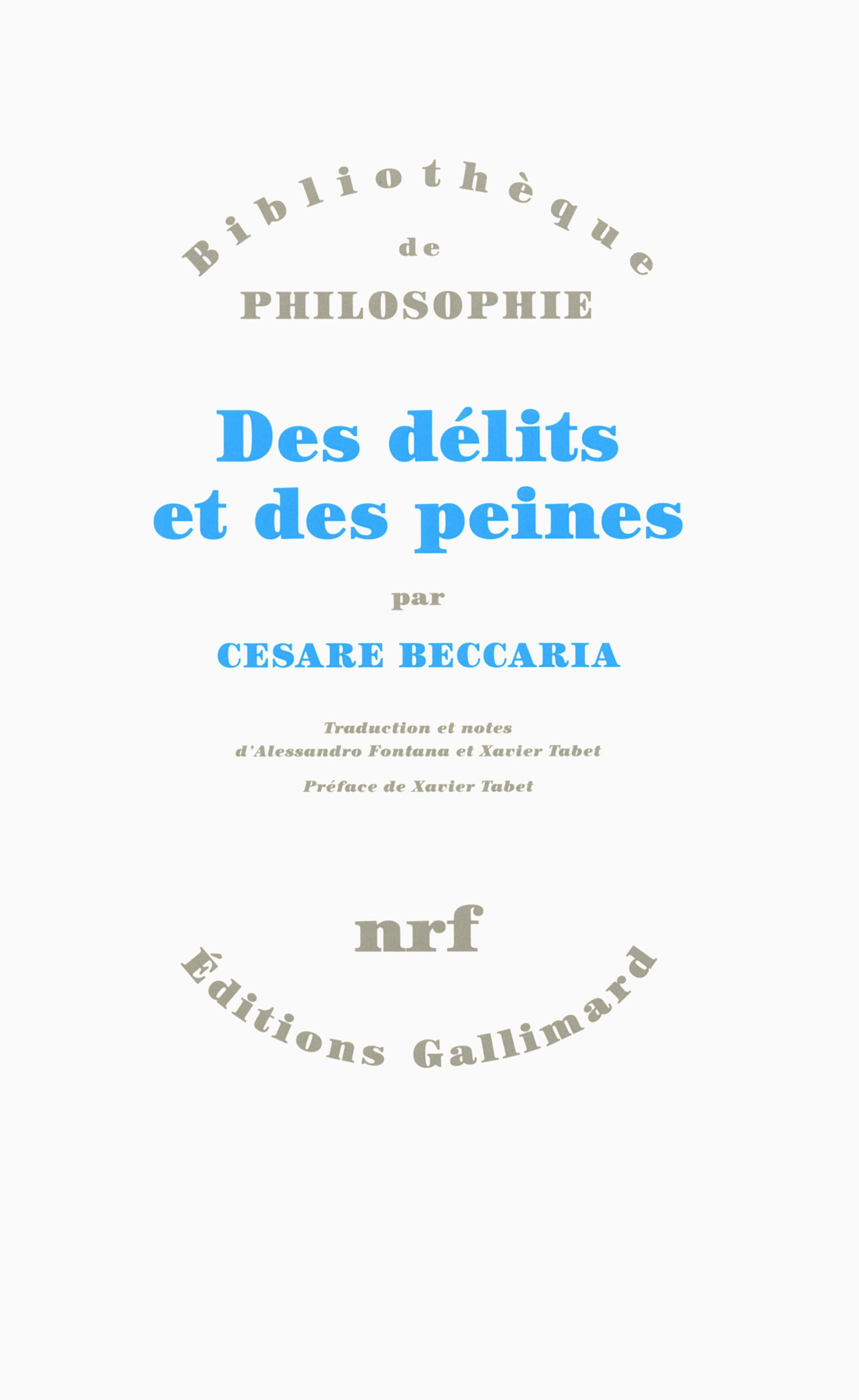 Des Delits & des Peines (French Edition)