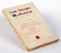 Los tiempos modernos, octubre de 1945. Archive Editions Gallimard