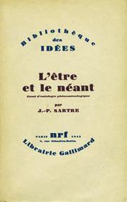 """Jean-Paul Sartre, ser y la nada, Gallimard, 1943 ( """"Ideas Biblioteca"""").  Archive Editions Gallimard"""