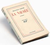 La náusea, de Jean-Paul Sartre, Gallimard, 1938. Archive Editions Gallimard
