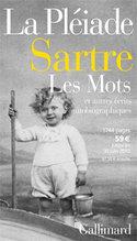 """Jean-Paul Sartre, las palabras y otras historias autobiográficas, Gallimard, 2010 ( """"Biblioteca de las Pléyades"""").  Cartel librería.  Archive Editions Gallimard"""