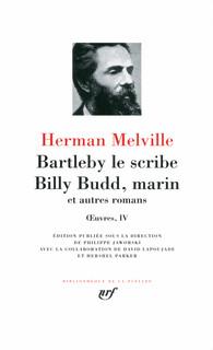 bartleby le scribe billy budd marin et autres romans