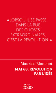 """Résultat de recherche d'images pour """"Maurice Blanchot, Mai 68. Révolution par l'idée."""""""
